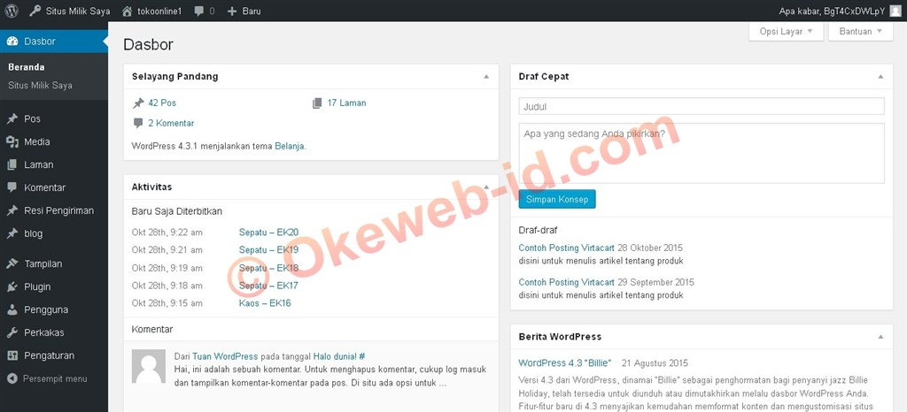 Tutorial Login ke Website - Oke Web Indonesia